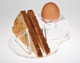 Acrylic Toast and Egg Holder | Breakfast Holder | Premium Perspex Acrylic | Manufactured in the UK
