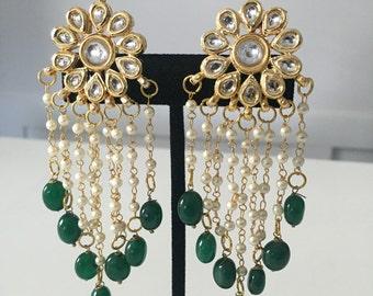 Kundan earrings, Indian earrings, kundan jewelry, Bollywood , Indian wedding jewelry