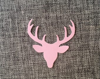 Paper Deer Head 100-Count - Die Cut Large Confetti Scrapbooking Card Craft Simple Country Wedding Party