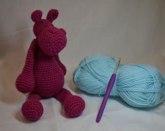 Crochet hippo-Crochet hippopotamus-Crochet animal-Amigurumi-Amigurumi animal-Crochet toy-Amigurumi hippo