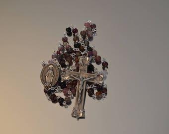 Tourmaline Rosary, Rosary, Rosaries, Miraculous Medal, Handmade