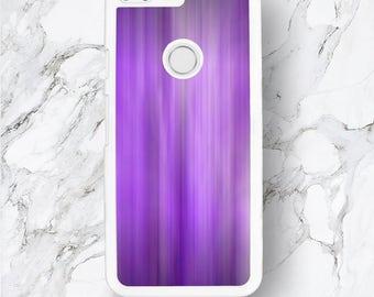 Google Pixel Purple Abstract Stripe Case, HTC Pixel XL, Blurry Purple Waterfall Shadow Art Funny Pattern, Curious Google Nexus 6 5 4 Cover