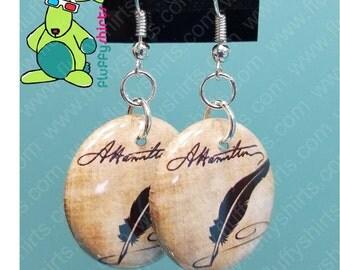 Alexander Hamilton Signature Earrings