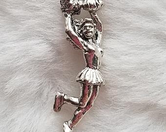 Cheerleader Charm - Pewter