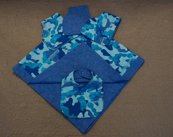 New Baby Receiving Blanket Set (Blue Camouflage)