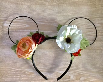 White Anemone Minnie Ears
