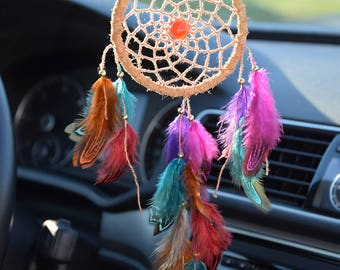 Colorful Car Dream Catcher, Car Accessories For Women |Men, Rear View Mirror Charm, Gift For Her Him