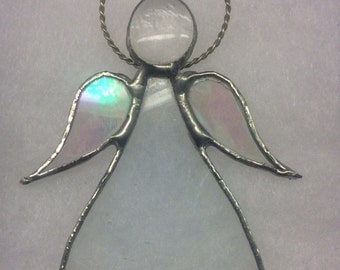 Handmade Whimsical Angel Stained Glass