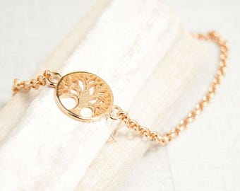 Bracelet tree of life rose gold tree of life type of 18 cm. 4261