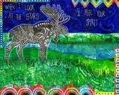 Moose Print Wall Art Moos...