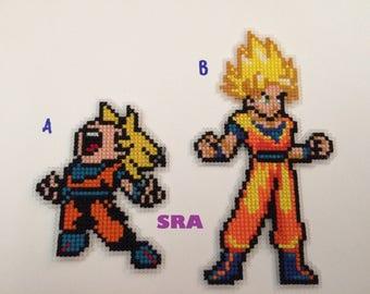 Goku Dragonball z cross stitch 8bit pixel art