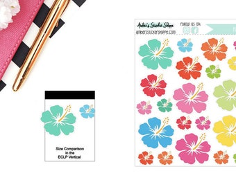 Hibiscus Flowers Sticker for any Planner