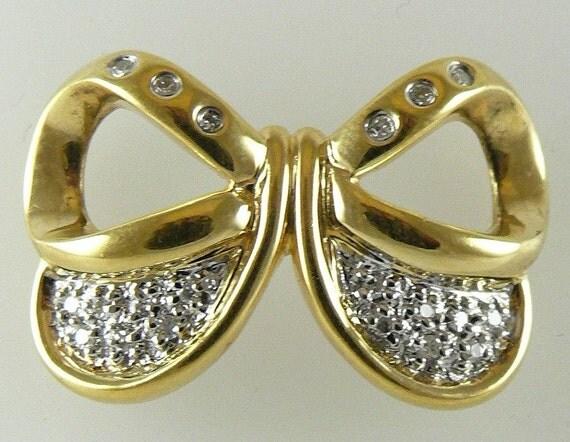 Diamond 0.15ct Pendant/Slide 18k Yellow Gold