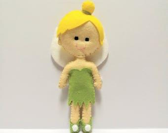 Disney Tinkerbell Inspired Felt Doll