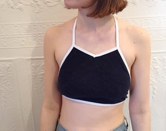 90s Vintage Terry Cloth Crop Top