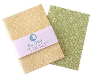2 hand-made Notebooks A6 size