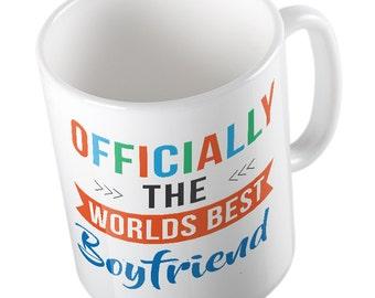 OFFICIALLY the worlds BEST BOYFRIEND mug