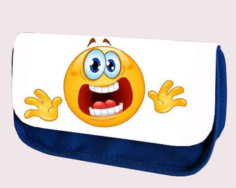 Emoji Smilie MAKE U JUMP Pencil Case / Clutch or Make up Bag