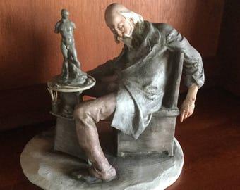 "Spectacular G. Cappe Capodimonte ""Sleeping Sculpture"" Italian figurine"