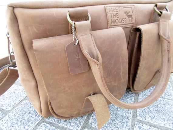 Brown Leather Weekend Bag, Travel Bag, Overnight Bag, Duffle Bag, Luggage, Carry On Bag, Vintage Leather Bag