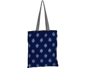 SANCHI Handloom Cotton eco friendly Reversible Shopping Tote Bag