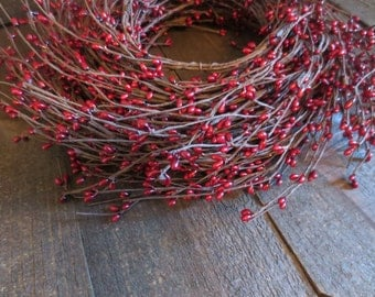 100 Feet Bulk Lot Burgundy Wispy Pip Berry Garland Primitive Country Rustic Wedding Pip Berries Home Decor Great for the Holidays