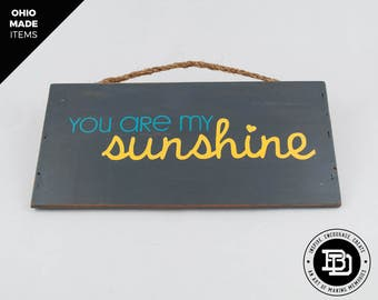 You are my sunshine - Reclaimed Sign - Home Decor - Wall Art - Baby Shower Gift - Nursery Decor - Baby Shower - Nursery Art - Bedroom Decor