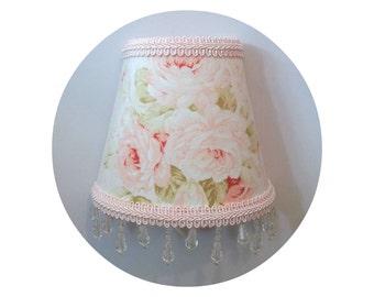 Shabby Chic Mary Rose fabric Night Light