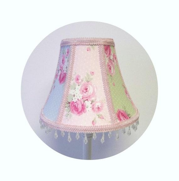 Pastel Slipper Roses fabric Shabby Chic Lamp Shade
