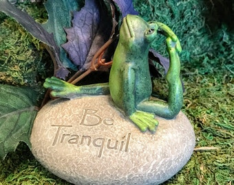 Miniature Yoga Frog - Be Tranquil