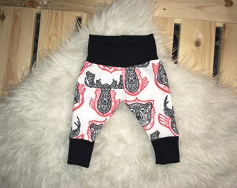 DEER LEGGINGS; bear leggings, baby leggings