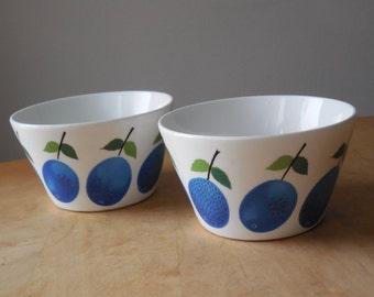 Gustavsberg Prunus Fruit Bowls