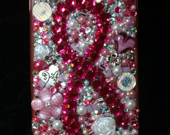 Survivor Breast Cancer Support IPhone 6-Plus Bejeweled phone case