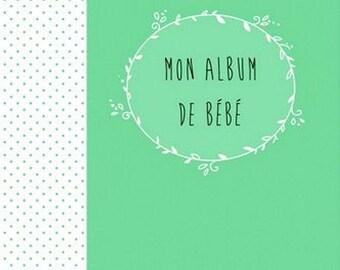 Handmade/Idée cadeau/Album de bébé/album souvenir bébé/personnalisé/livre de naissance personnalisé/naissance/baptême/anniversaire/photos