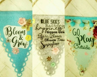 Vintage  Bunting Quote Wall Art