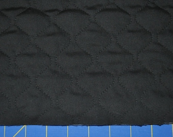 Single Sided Black Quilted Fabric (By The Yard)