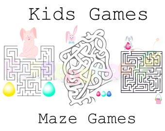 70% OFF SALE Kids Games, Maze Games, Labyrinth Game, Baby Games, Easter Games, Maze, Labyrinth