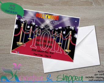 Hollywood Glam Save the Date; Postcard; PDF; E-Card