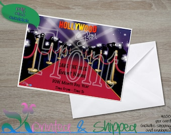 Hollywood Glam Save the Date; Postcard; PDF; E-Card