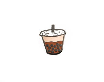Bubble Milk Tea Boba Enamel Pin