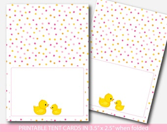 Rubber duck baby shower food labels Ducky food tent card, Duck place card Ducks food tent label Duck place settings Duck buffet label BD1-10