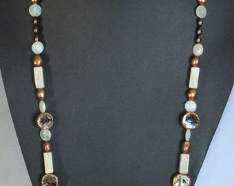 Bronze and beige necklace