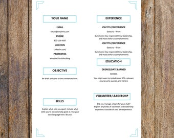 Rn Job Description For Resume Pdf Resume For Word  Etsy How Do You Type A Resume Word with Administrative Secretary Resume Cute One Page Resume Template  Editable For Ms Word  Creative Resume  Resume Template Human Resource Generalist Resume Word