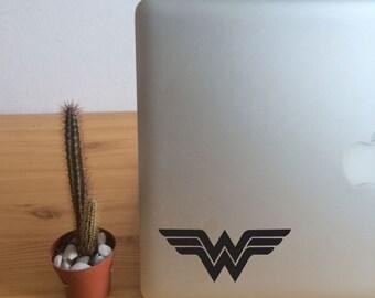 FUN STICKERS, laptop decoration, car decals, wonder woman