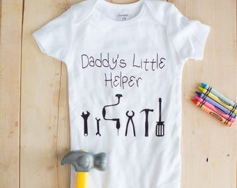 Adorable Daddy's Little Helper Baby Bodysuit