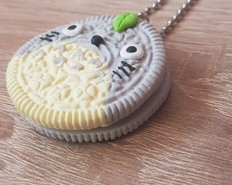 My Neighbor Totoro Kawaii Oreo / Studio Ghibli Anime Polymer Clay Charm