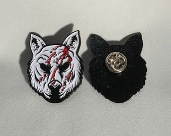 "Fox Mask Enamel Pin 1.5"" - You're Next"