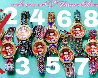 EXCLUSIVE / Frida kahlo watch,weave fabric watch, frida kahlo jewelry *FREE SHIPPING*