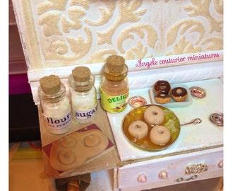 Miniature food donut doughnut dollhouse food accessories kitchen