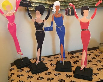 1 designer diva inspired party favor centerpieces